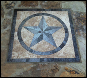Texas Star Medallion Hand Crafted In Bastrop Texas By