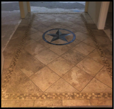 Texas Star Medallion Hand Crafted In Bastrop Texas By Jim Outlaw - Ceramic tile star designs